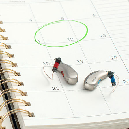 Small Phonak Marvel hearing aids
